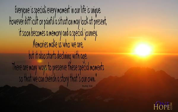 Cherish Your Life Quotes Cool Cherish Your Own Story  Onehope