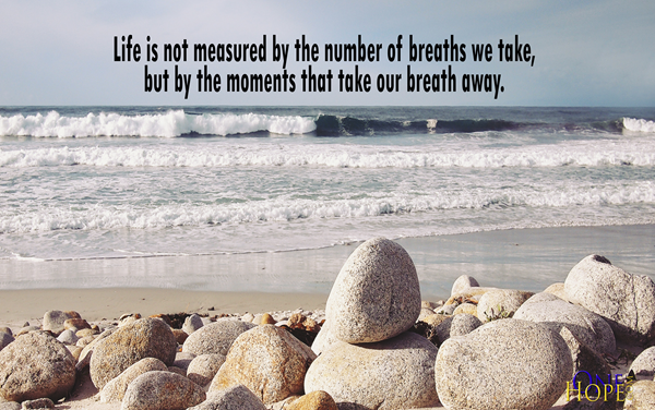 Life Is Not Measured By The Breaths Quote Unique Moments  Onehope